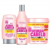 Kit Desmaia Cabelo Forever Liss Máscara 350g + Shampoo 500ml + Leave-in 150g