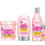 Kit Desmaia Cabelo Forever Liss Máscara 350g + Shampoo 500ml + Leave-in 150g + Sérum 60ml