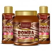 Kit Forever Liss Bomba de Chocolate Shampoo 300ml + Condicionador 300ml + Máscara 1Kg