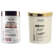 Kit Ykas Botox Capilar e  Banho de Verniz 1 kg