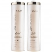 Kit Ykas Escova Progressiva Kit Gold  Ouro (2 x 1L)