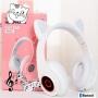 Fone De Ouvido Gatinho Bluetooth 5.0 Dobravel Branco