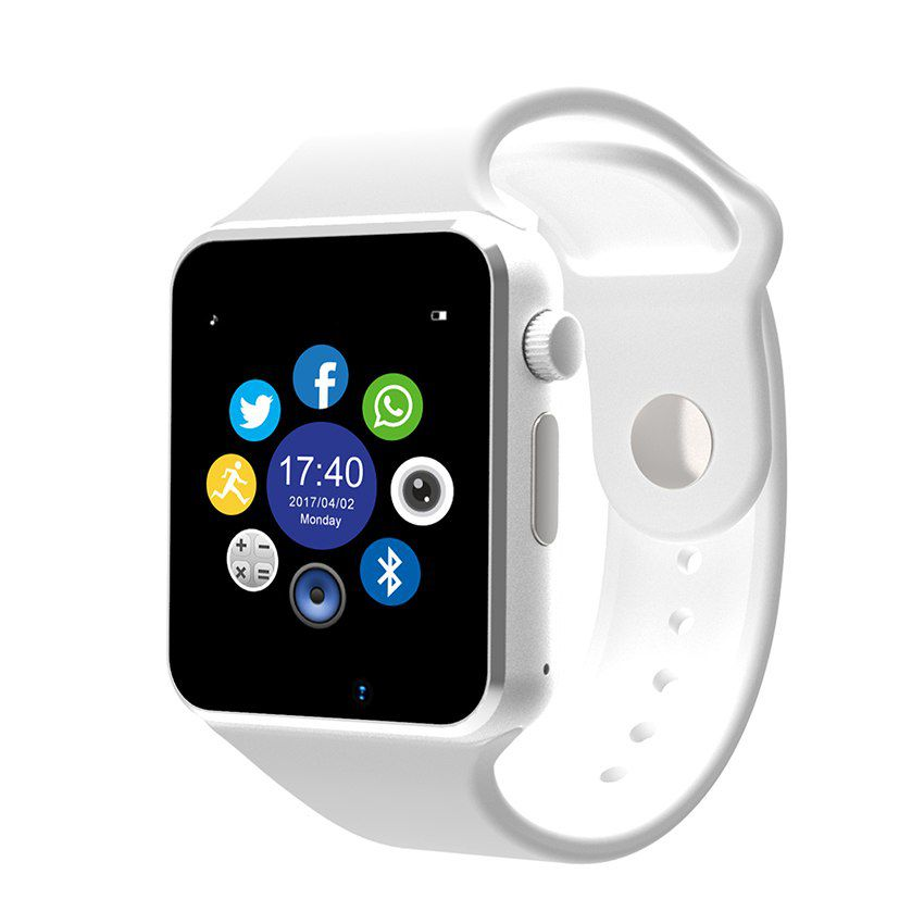 A1 Relógio Smartwatch Android, WhattsApp Face  Bluetooth, Camera - Branco