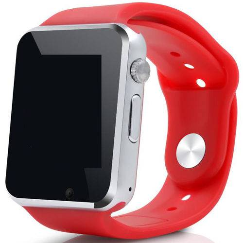 A1 Relógio Smartwatch Android, Notificações Bluetooth, Camera  Vermelho