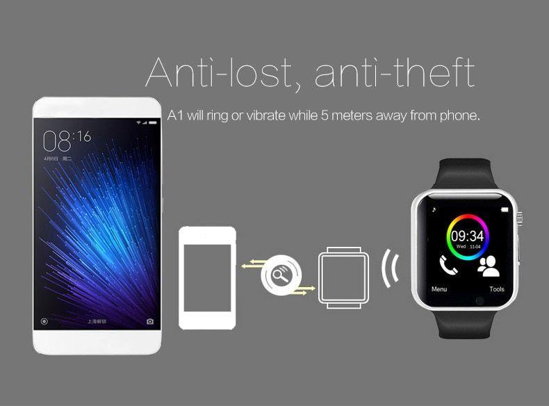 A1 Relógio Smartwatch Android, WhatsApp e Face  Camera, Bluetooth