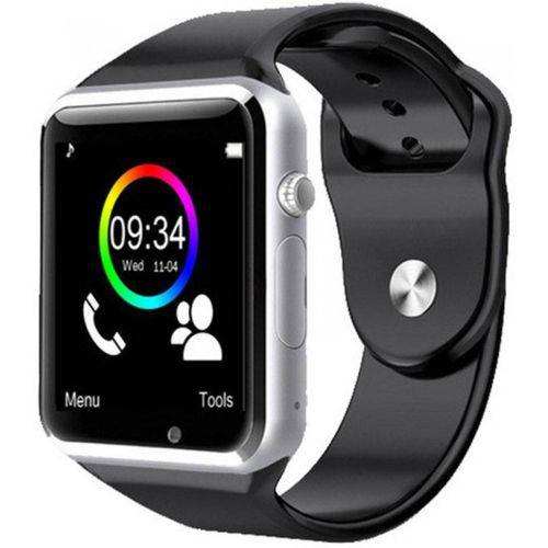 A1 Smartwatch Relógio  Android, WhatsApp Bluetooth, Camera - Preto