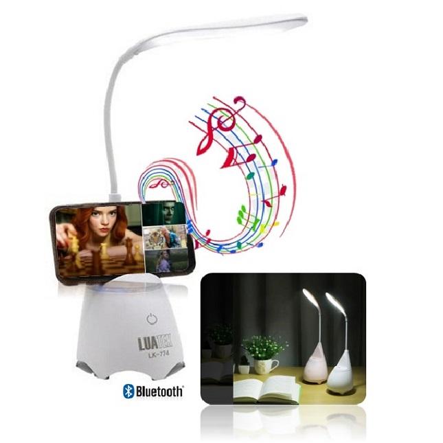 Abajour Luminaria de Mesa Touch Bluetooth Caixa de Som Led
