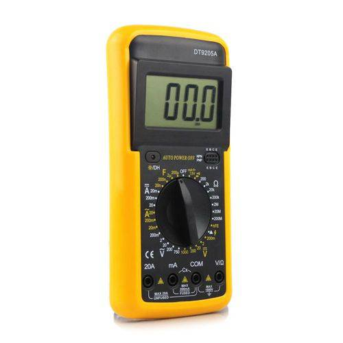 Amperímetro  Multímetro  Voltímetro Digital Profissional Inteligente e Capa Dt-9205a