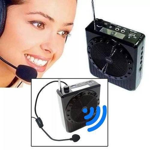 Amplificador Megafone  Voz Microfone Professor Radio Fm Usb