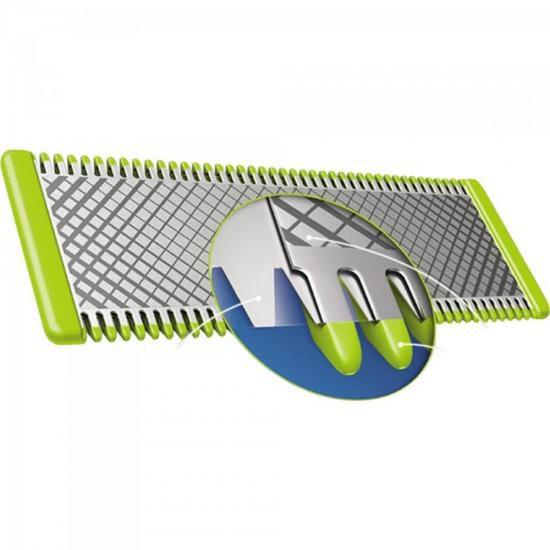 Aparador de Pelos Bivolt OneBlade QP2521/10 Cinza/Verde PHIL