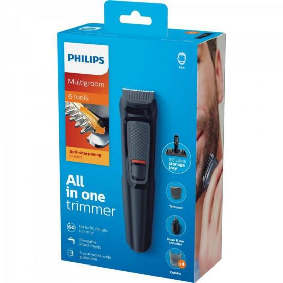 Aparador de Pelos Multigroom 6x1 MG3711/15 Preto PHILIPS
