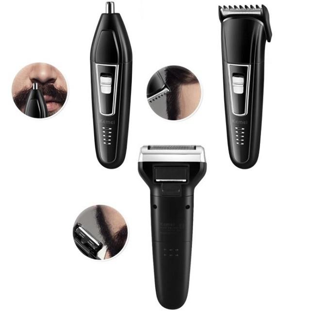 Aparador Maquina de Cabelo Barbeador Elétrico 3 em 1-6558