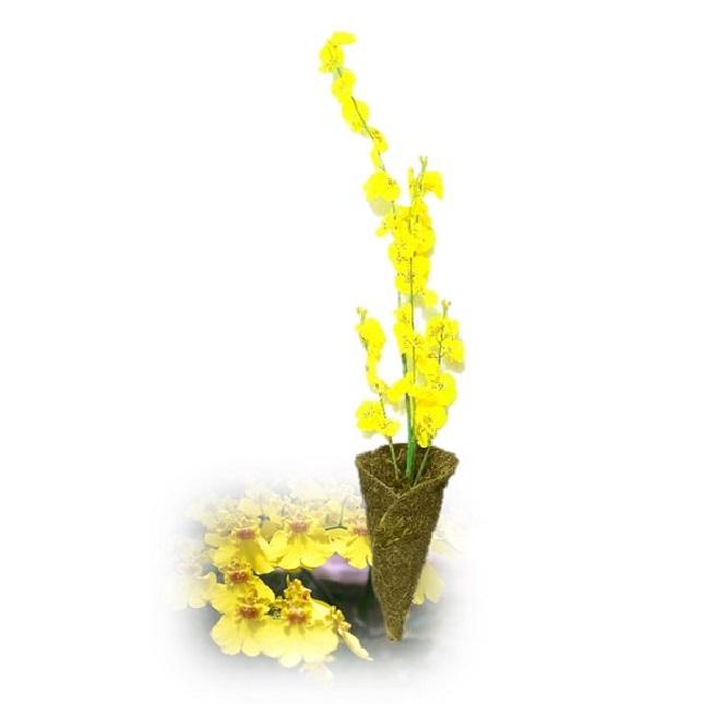 Arranjo de Orquídea Oncidium Chuva de Ouro Artificial