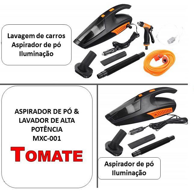 Aspirador Tomate e Lavador Portátil de Alta Potência 12v