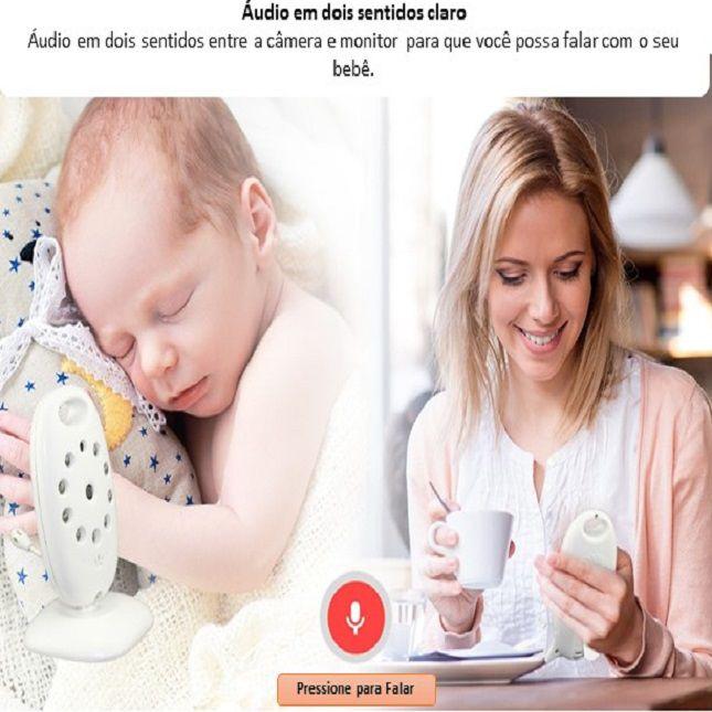 Babá Eletrônica Câmera Com Monitor Vídeo Colorido Baby - VB601