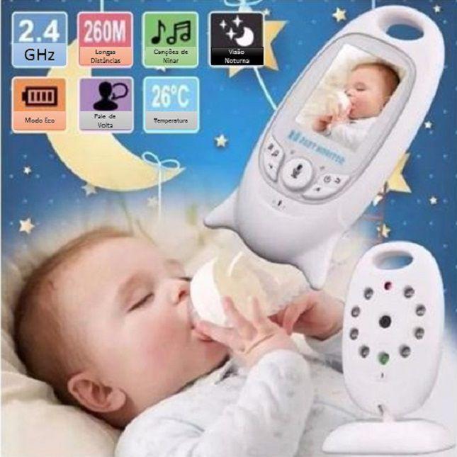 Babá Eletrônica Monitor Colorido -Câmera- Vídeo-Baby - VB601
