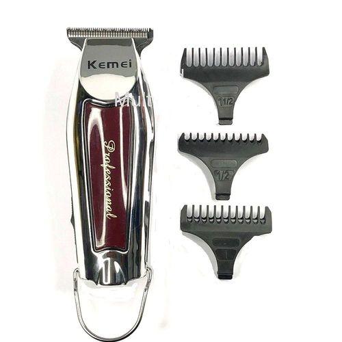 Barbeador e maquina De Acabamento de Cabelo Profissional Sem Fio Kemei Km-9163 Bivolt