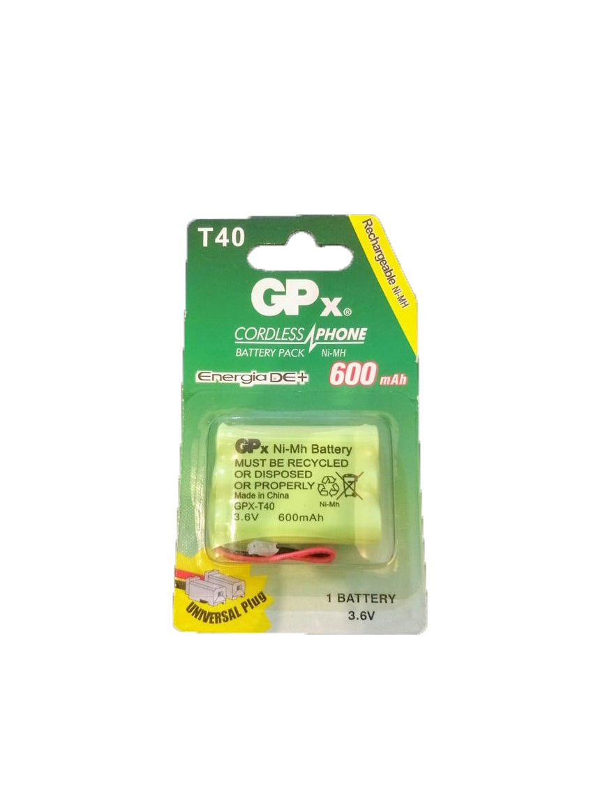 Bateria para telefone sem Fio GPx T 40 Recarregável 600mAh