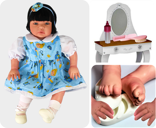 Bebê Reborn amiga Catarine Cinderela Refletindo Você