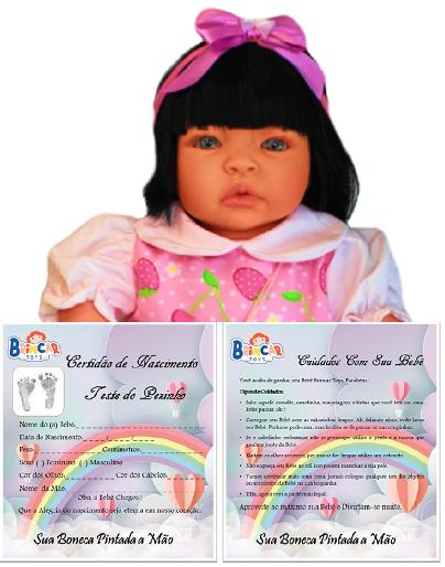 Bebê Reborn amiga Catarine Moranguinho Refletindo