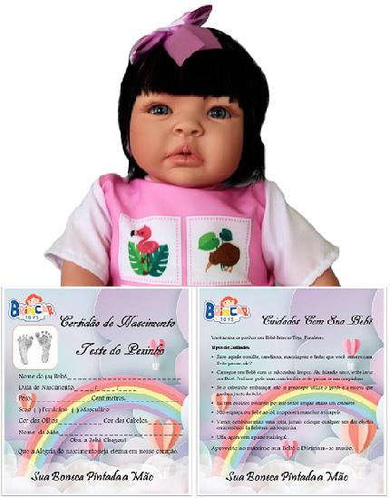 Bebê Reborn amiga  Caterine Fazendinha Refletindo
