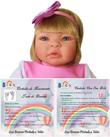 Bebê Reborn amiga Helena Fazendinha Refletindo
