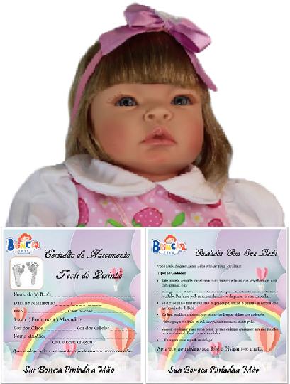 Bebê Reborn amiga Helena Moranguinho Refletindo