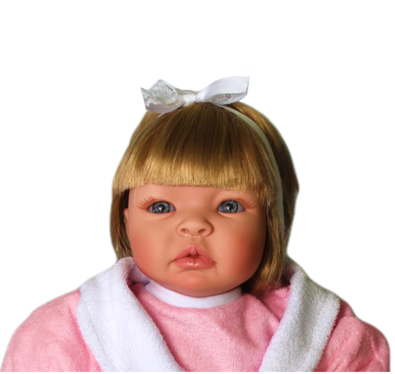 Bebê Reborn amiga Helena Saída de Banho Refletindo