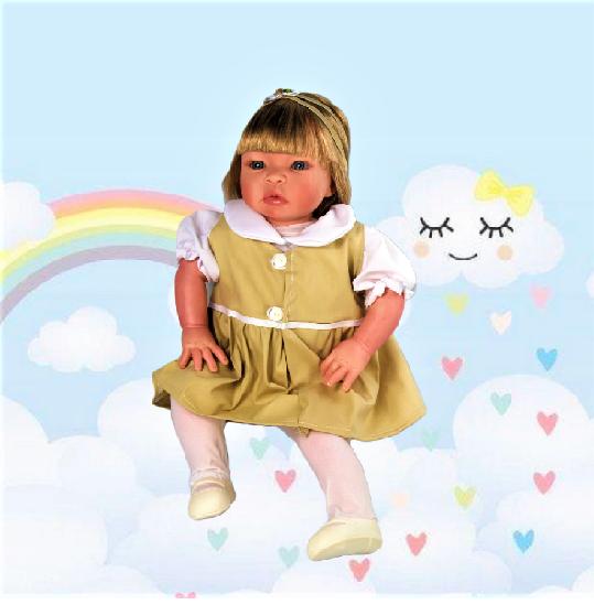 Bebê Reborn amiga Helena Uniforme Escolar Refletindo