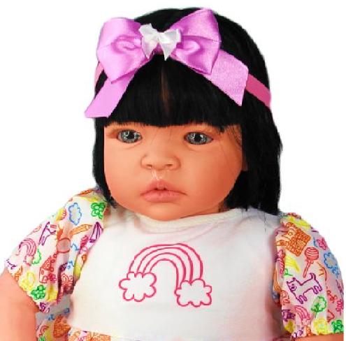 Bebê Reborn Catarine Arco Íris Refletindo