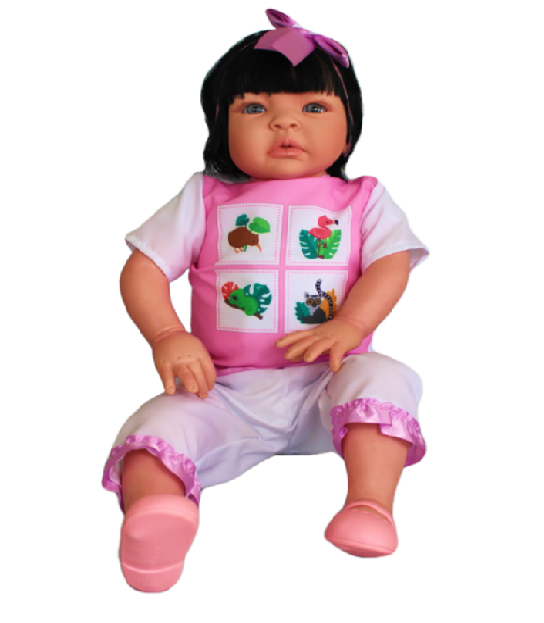 Bebê Reborn Caterine Fazendinha Refletindo