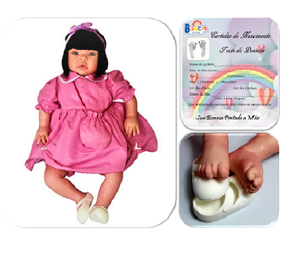 Bebê Reborn Catarine Festa Refletindo Você