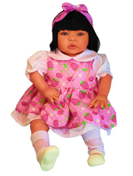 Bebê Reborn Catarine Moranguinho Refletindo