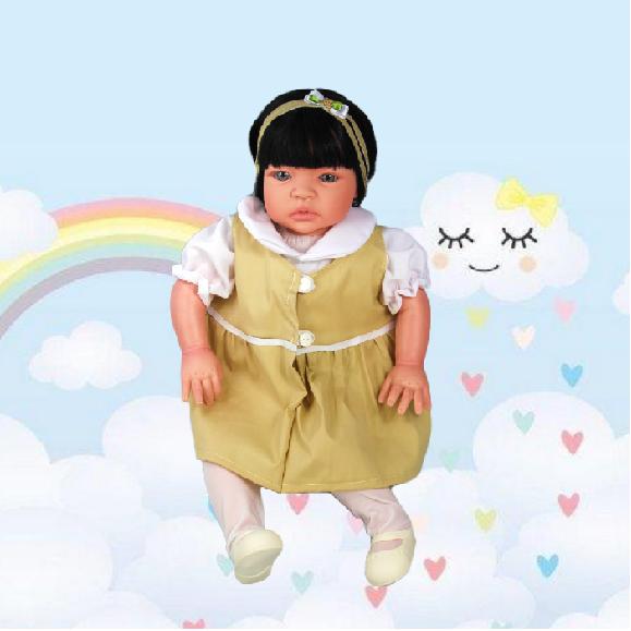 Bebê Reborn Catarine Uniforme Escolar Refletindo