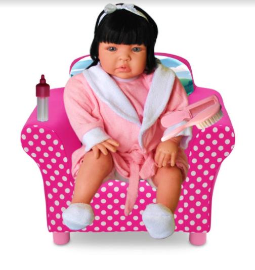 Bebê Reborn Caterine Saída de Banho Refletindo