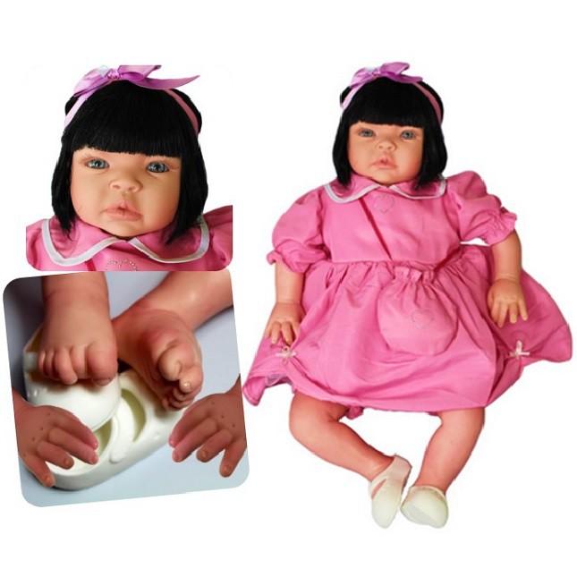 Bebê Reborn  Festa Menina Caterine Refletindo