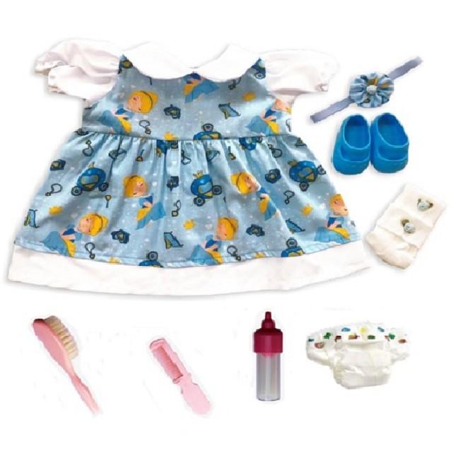 Bebê Reborn Helena Cinderela Azul Refletindo