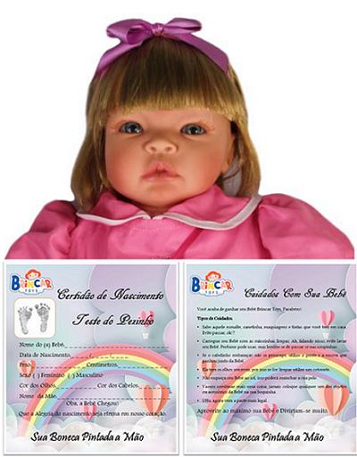 Bebê Reborn menina Helena dia Festa Refletindo Você