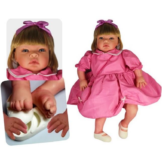 Bebê Reborn Menina Helena Festa Refletindo