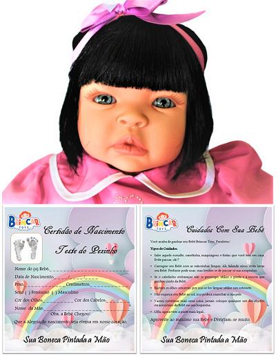 Bebê Reborn roupa para Festa menina Catarine Refletindo Você