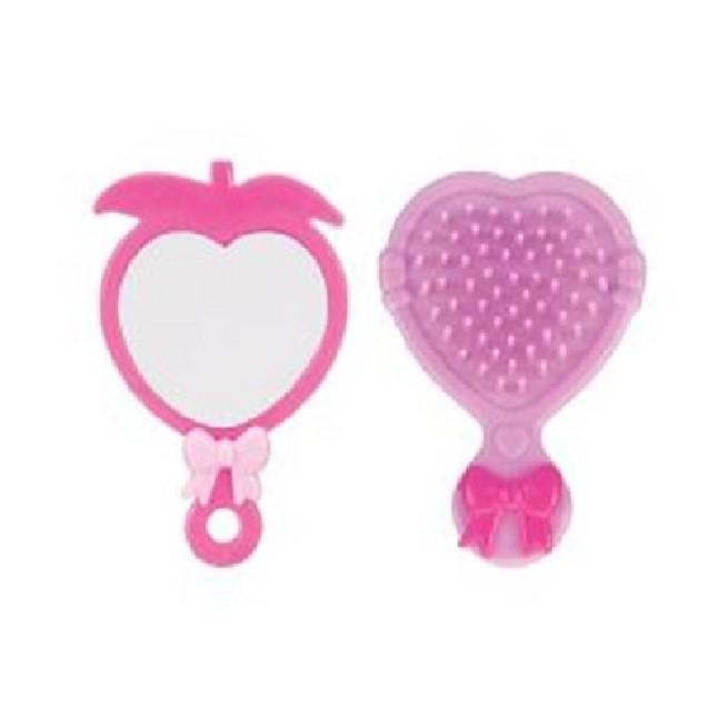 Bolsinha Rosa com Acessórios Para Boneca Art Brink