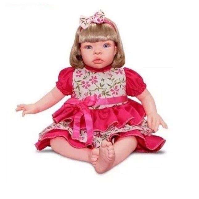 Boneca Bebê Estilo Reborn Loira