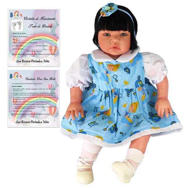 Boneca Bebê Reborn Caterine Cinderela Refletindo