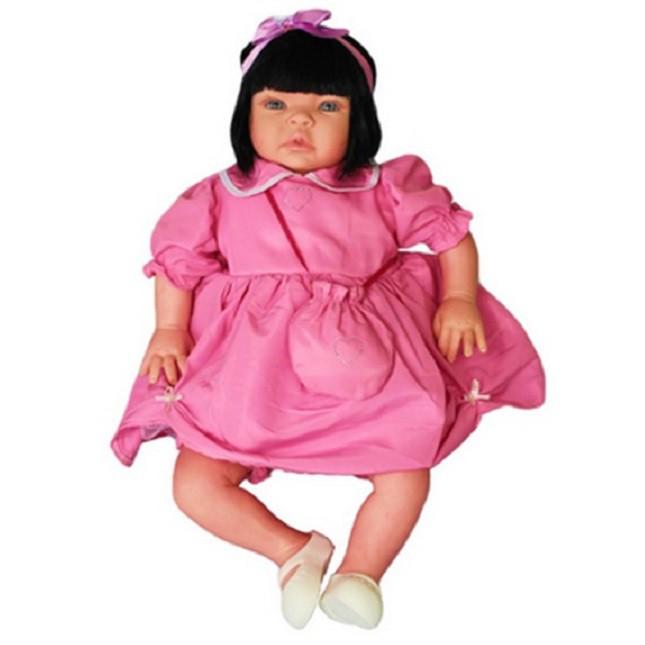 Boneca Bebê Reborn Caterine Festa Mochila Refletindo