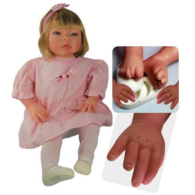 Boneca Bebê Reborn Helena Rosinha Refletindo