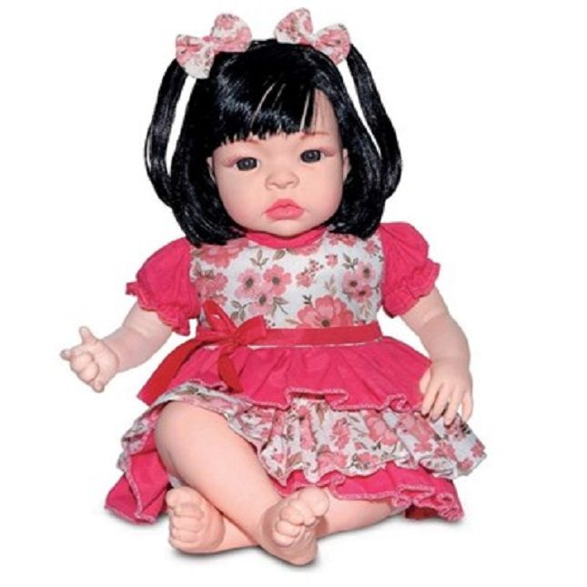 Boneca Gêmeas Bebê Estilo Reborn Loira  e Morena