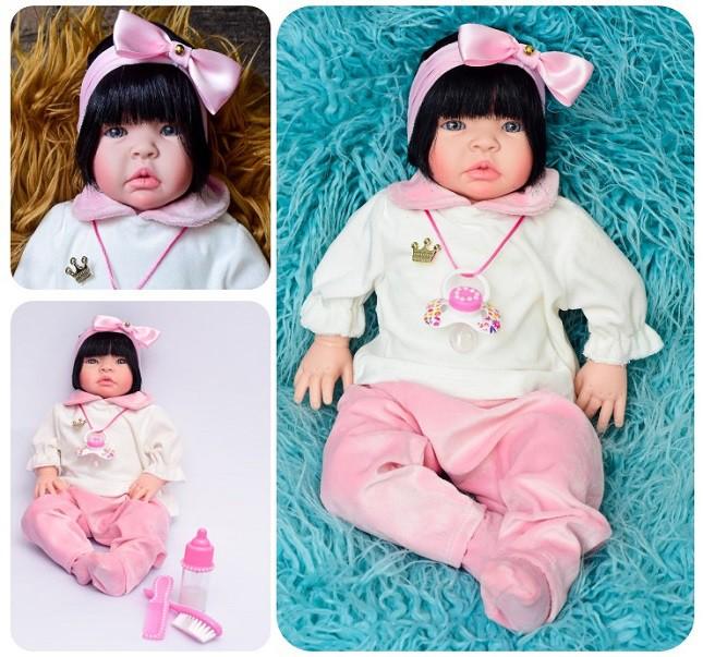 Boneca Lara Bebê Reborn  Morena Refletindo Você