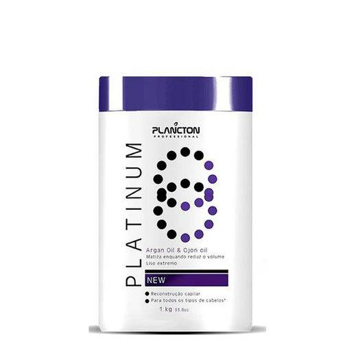 BTX Platinum Argan Oil e Ojon Oill Plancton Professional Creme Alisante 1Kg