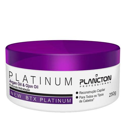 BTX Platinum Argan Oil e Ojon Oill Plancton Professional Creme Alisante 250g