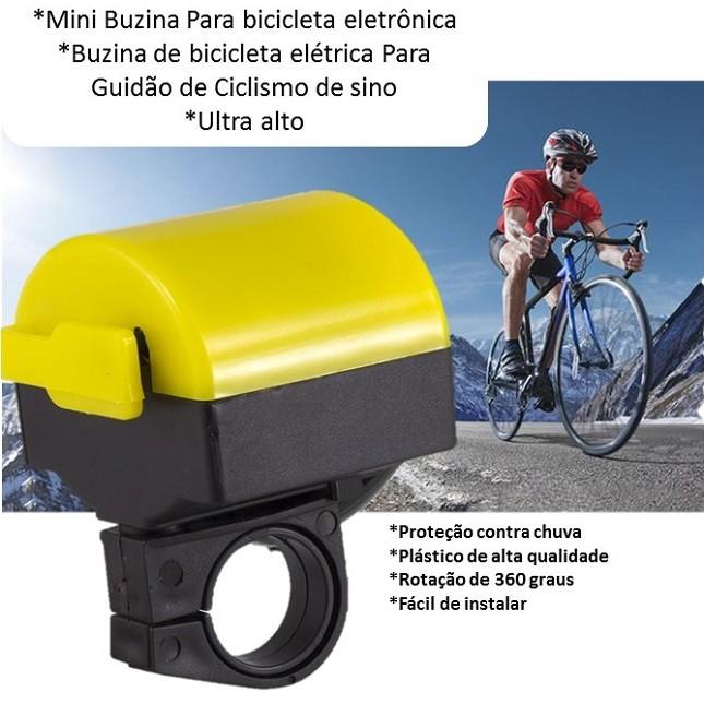 Buzina Bike Sirene Eletrônica